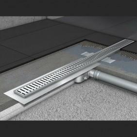 Душевой канал C - c горизонтальным фланцем 585 мм, высота 65 мм.