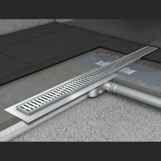 Душевой канал C - c горизонтальным фланцем 585 мм, высота 92 мм.