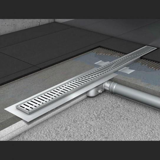 Душевой канал C - c горизонтальным фланцем 685 мм, высота 65 мм.
