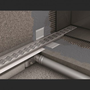 Душевой канал C - c вертикальным фланцем 585 мм, высота 92 мм.