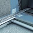 Душевой канал C - c вертикальным фланцем 785 мм, высота 65 мм.