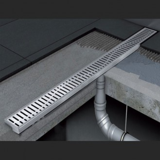 Душевой канал C - без фланца и прямым выпуском 585 мм
